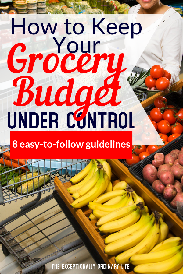 Grocery budget under control