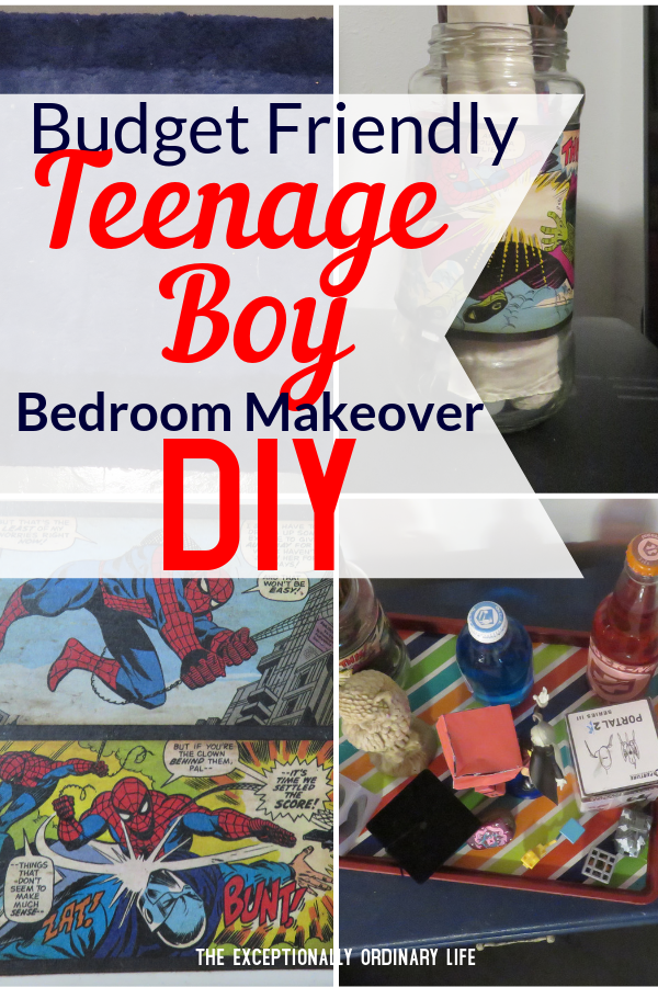 Budget Friendly Teenage Boy Bedroom Makeover-DIY
