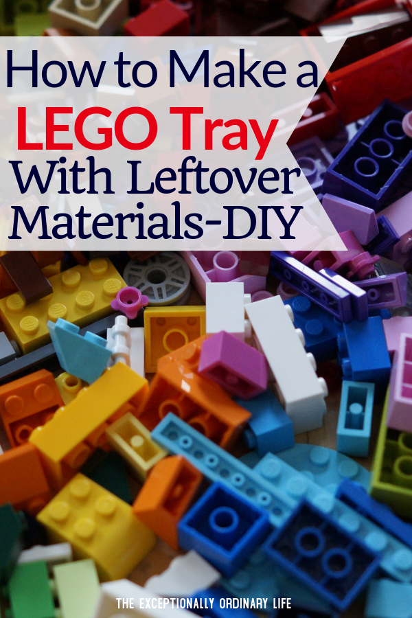 How to make a VERY simple LEGO tray using leftover materials-DIY