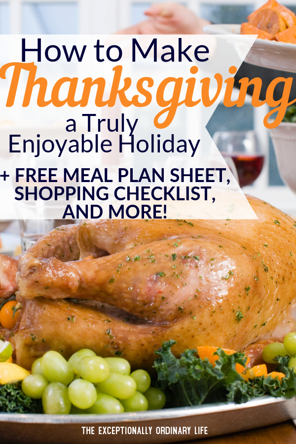 How to make your Thanksgiving simpler and more enjoyable