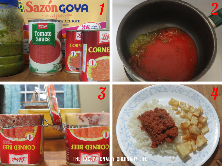 Canned corned beef recipe
