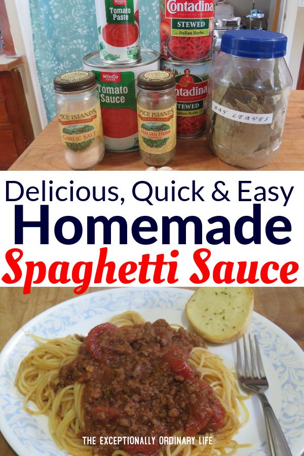 Quick and easy homemade spaghetti sauce recipe
