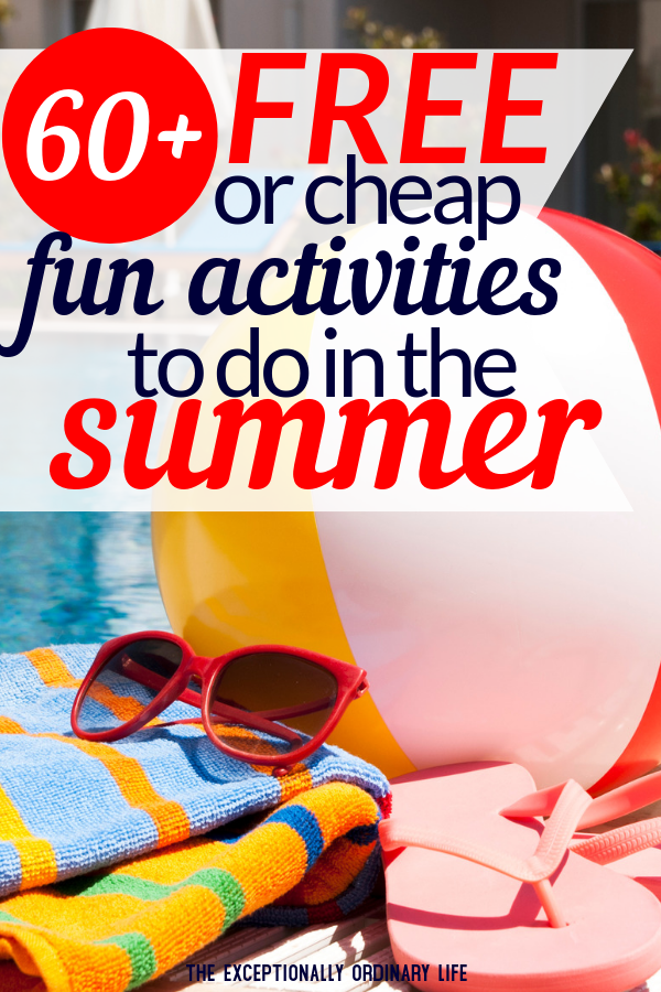 Fun things to do in the summer